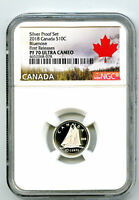 2018 CANADA 10 CENT SILVER PROOF NGC PF70 UCAM BLUENOSE DIME