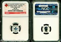 2015 $1 CANADA SILVER MAPLE LEAF INCUSE NGC PF70 UCAM REVERS