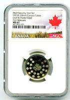 2018 CANADA MAPLE LEAF NICKEL NGC MS67 TEST TOKEN FIRST RELE
