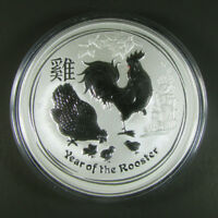 2017 P AUSTRALIA $8 5 OZ LUNAR YEAR OF THE ROOSTER SILVER .9