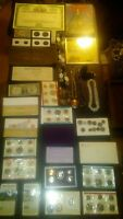 BIG COIN LOT COLLECTION MINT SETS PROOF SILVER VINTAGE BANK