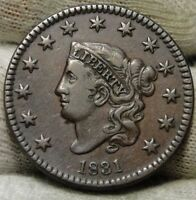 1831 PENNY CORONET LARGE CENT -  COIN, SHIPS FREE  5981