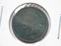 1876 1C BN INDIAN CENT EXTRA FINE  DETAIL BOLD LIBERTY SHOWS