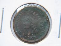 1876 1C BN INDIAN CENT EXTRA FINE  DETAIL