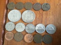 17 CANADA COINS LOT OLD CANADIAN CURRENCY