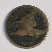 1857 FLYING EAGLE CENT - CIRCULATED - HIGH QUALITY SCANS C533