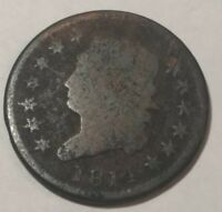 1814 CLASSIC HEAD U.S. LARGE CENT. LOT1 G/AG, MICRO-POROSITY
