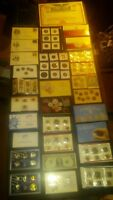 BIG COIN COLLECTION MINT SET LOT PROOF SILVER $ STAR NOTE GP