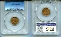 1939 S LINCOLN HEAD PENNY PCGS MINT STATE 66 RED 8171L