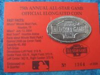 US QUARTER ALL STAR GAME 2004 HOUSTON TEXAS 75 ELONGATED PENNY PRESSED SMASHED