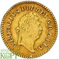 AA6219  GREAT BRITAIN GEORGE III 1760 1820 1/3 GUINEA 1798 G