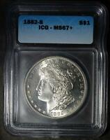 1882 S ICG MS67  MORGAN SILVER DOLLAR RARE 90  SILVER  PLUS