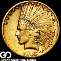 1910 S GOLD EAGLE $10 GOLD INDIAN    FREE SHIPPING