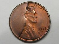 ERROR: MASSIVE CUD 1971 D US LINCOLN PENNY.  4