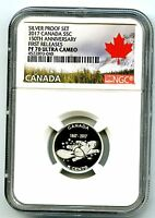 2017 CANADA 15OTH ANNIV 5 CENT NGC PF70 FIRST RELEASE .9999