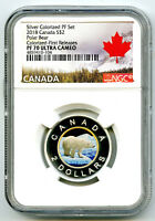2018 $2 CANADA GILT/GOLD SILVER COLORED PROOF NGC PF70 UC TO