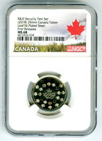 2018 CANADA MAPLE LEAF NICKEL NGC MS68 TEST TOKEN FIRST RELE