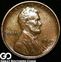 1909 S VDB LINCOLN CENT WHEAT PENNY AVIDLY PURSUED CHOICE AU