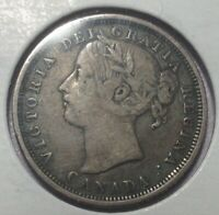 1858 CANADA 20 CENT   VERY SCARCE ONE YEAR TYPE