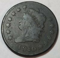 1810 VG-FINE CLASSIC HEAD LARGE CENT. LIGHT SURFACE ROUGHNESS.