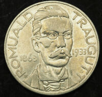 1933 POLAND  2ND REPUBLIC . LARGE SILVER 10 ZLOTYCH