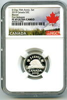 2019 CANADA 5 CENT .9999 SILVER PROOF NICKEL NGC PF69 UCAM F