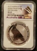 2017 P AUSTRALIA WEDGE TAILED EAGLE NGC FIRST RELEASES MS69