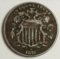 1876 SHIELD NICKEL.  NEEDS EXPERT CONSERVATION.  ABOUT X.F. DETAIL.  135319