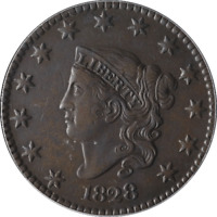 1828 LARGE CENT ICG CHOICE EF45 N.1 R.1 GREAT EYE APPEAL  STRIKE