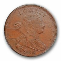 1804 1C  DRAPED BUST LARGE CENT PRIVATE RESTRIKE PCGS MINT STATE 62 BN CAC APPROVED