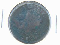 1797 1C BN DRAPED BUST LARGE CENT FINE DETAIL BOLD DATE SHOWS