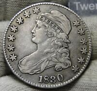 1830 CAPPED BUST HALF DOLLAR - 50 CENTS . COIN .. SHIPS FREE  7965