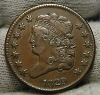 1829 CLASSIC HEAD HALF CENT -   COIN, ONLY 487,000 MINTED 8055