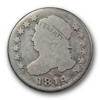 1814 10C STATESOF CAPPED BUST DIME GOOD G TOUGH VARIETY R1037