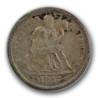 1867-S 10C SEATED LIBERTY DIME EXTRA FINE EXTRA FINE  SAN FRANCISCO MINT R777