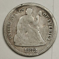 1872-S LIBERTY SEATED HALF DIME.  CIRCULATED.  130945