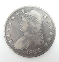 1822 CAPPED BUST/LETTERED EDGE HALF DOLLAR  FINE SILVER 50-CENTS