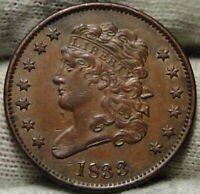 1833 CLASSIC HEAD HALF CENT -  COIN - , ONLY 103,000 MINTED 7952