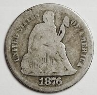 1876-S SEATED LIBERTY DIME.  CIRCULATED.  107136