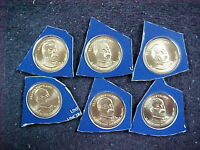 6 - 2012 P GROVER CLEVELAND  DOLLARS FROM MINT SETS BU   1ST TERM 1885 - 1889