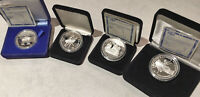 4 RUSSIA .900 SILVER PROOFS  1991 1993  SUPERB GEMS MUST SEE