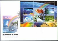RUSSIA 2005 WATER/WATERFALL/RAINBOW/ENVIRONMENT/CONSERVATION M/S FDC  N36246