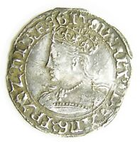 WONDERFUL TUDOR SILVER GROAT OF QUEEN MARY I LONDON 1553   1554 A.D.