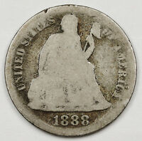 1888-S SEATED LIBERTY DIME.  CIRCULATED.  100686