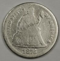 1876-S SEATED LIBERTY DIME.  CIRCULATED.  119463