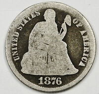 1876-S SEATED LIBERTY DIME.  CIRCULATED.  97630
