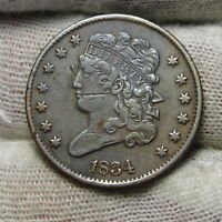 1834 CLASSIC HEAD HALF CENT -  COIN - , ONLY 141,000 MINTED 7392