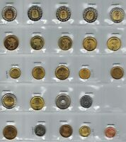 EGYPT 24 COINS UNCIRCULATED KING TUT CLEOPATRA PYRAMIDS AND MORE