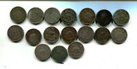 1866 1867 1868 1882 SHIELD NICKEL TYPE COIN LOT OF 18 AG G VG 5961J