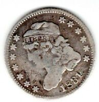 1831 CAPPED BUST HALF DIME - VF - SCRATCHES ON OBVERSE